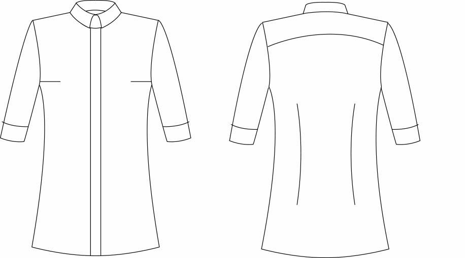 Female skjorte kort ærme